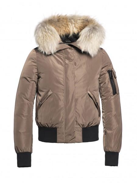 BOMBA fur jacket earth