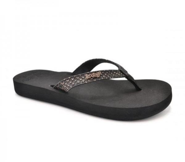 REEF - STAR CUSHION SASSY slippers - zwart