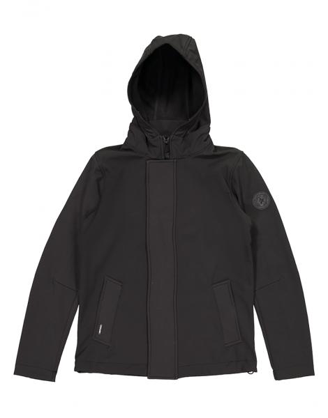 4f0418e92d2 SOFTSHELL STRAIGHT jas - zwart | Sport 'n Styles