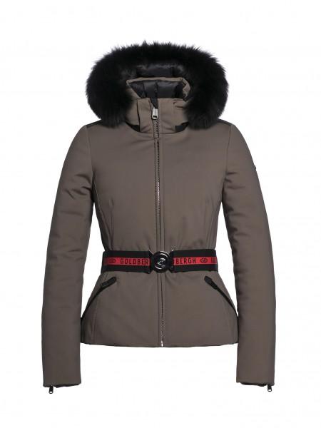 HIDA fur jacket earth