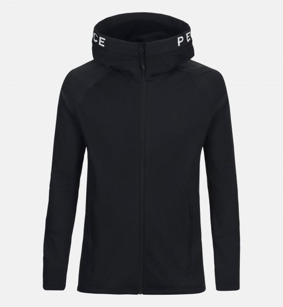 PEAK PERFORMANCE - RIDER ZIP HOOD vest - zwart